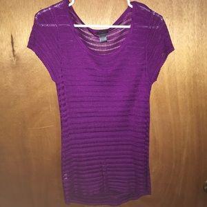 Ann Taylor purple blouse